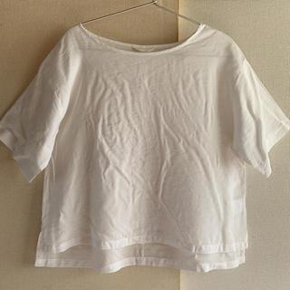 スタディオクリップ(STUDIO CLIP)のstudio CLIP  ホワイト オーバーサイズカットソー トップス Tシャツ(Tシャツ(半袖/袖なし))
