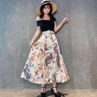 eimy istoire - eimy Grace flower ベルトスカート