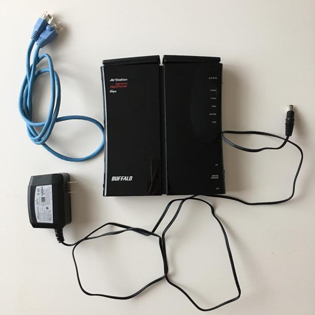 Buffalo(バッファロー)のBUFFALO バッファロー 無線ルーター WZR-600DHP スマホ/家電/カメラのPC/タブレット(PC周辺機器)の商品写真