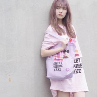 ミルクボーイ(MILKBOY)のland by MILKBOY × 佐藤すみれ コラボ BIG Tシャツ ピンク(Tシャツ/カットソー(半袖/袖なし))
