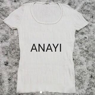 ANAYI - アナイ ANAYI  カットソー コットン100 綿 白 半袖 コットンニット