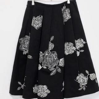 ロイスクレヨン(Lois CRAYON)のロイスクレヨン  花柄刺繍  スカート (ロングスカート)