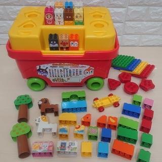 アンパンマンおもちゃ はじめてのブロックワゴン【ブロックラボ】