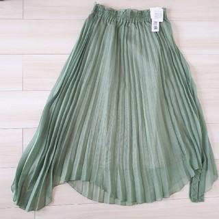 merlot - 【お値下げ】新品 merlot plus ラメプリーツ イレギュラーヘムスカート