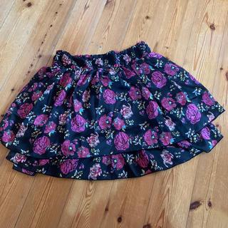 ハニーズ(HONEYS)の花柄スカートLサイズ(ひざ丈スカート)