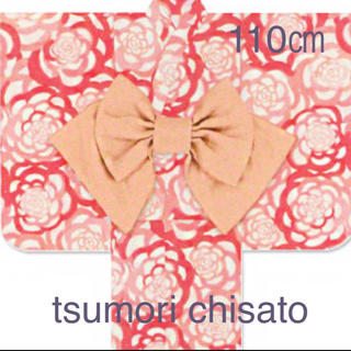 ツモリチサト(TSUMORI CHISATO)の◆tsumori chisato◆110㎝ 花柄浴衣 赤ピンク(甚平/浴衣)