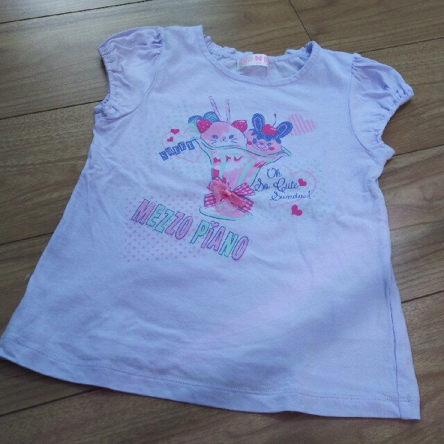 mezzo piano(メゾピアノ)のメゾピアノ Tシャツ 120 キッズ/ベビー/マタニティのキッズ服女の子用(90cm~)(Tシャツ/カットソー)の商品写真