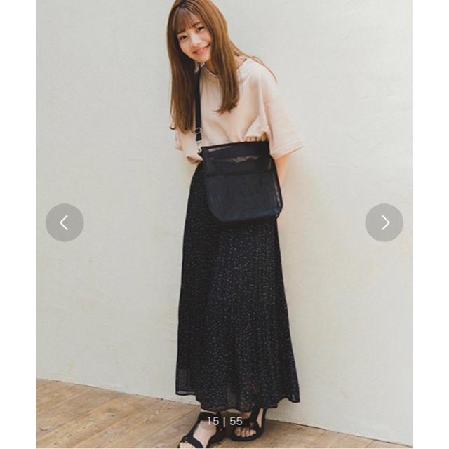 ehka sopo(エヘカソポ)のエヘカソポ まるコラボ ドット柄プリーツスカート ブラック レディースのスカート(ロングスカート)の商品写真