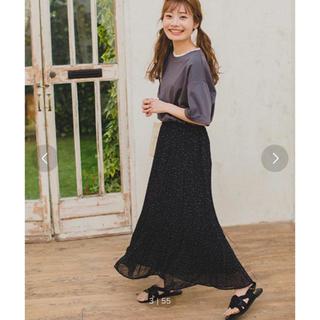 エヘカソポ(ehka sopo)のエヘカソポ まるコラボ ドット柄プリーツスカート ブラック(ロングスカート)