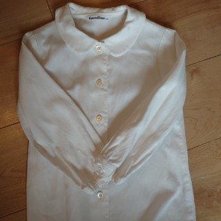 ファミリア(familiar)のファミリア ブラウス 丸襟 長袖 100センチ 小学校受験 お受験 フォーマル(ブラウス)