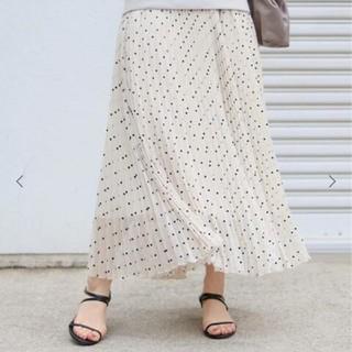 IENA - フロッキーDOTプリーツスカート