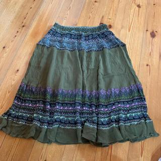膝丈スカート フリーサイズ(ひざ丈スカート)
