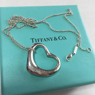 ティファニー(Tiffany & Co.)のティファニー オープンハートネックレス 大  シルバー(ネックレス)