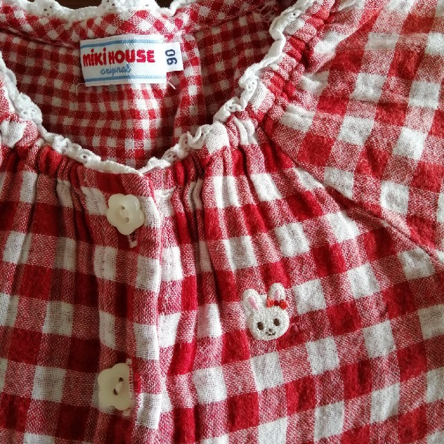 mikihouse(ミキハウス)のミキハウス ワンピース 90 キッズ/ベビー/マタニティのキッズ服女の子用(90cm~)(ワンピース)の商品写真
