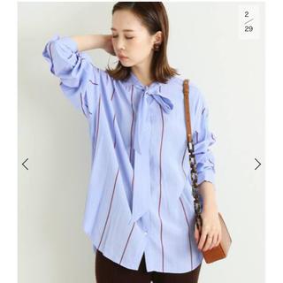 IENA - ストライプボウタイシャツ