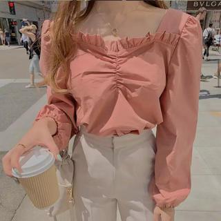 ロキエ(Lochie)の♡ pink frill blouse ♡(シャツ/ブラウス(長袖/七分))