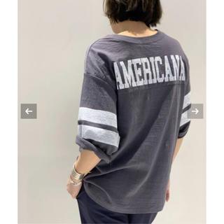 DEUXIEME CLASSE - AMERICANA×AP STUDIO★ボーイフレンド フットボールTシャツ