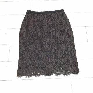 ドルチェアンドガッバーナ(DOLCE&GABBANA)のDOLCE&GABBANA レース スカート 美品(ひざ丈スカート)