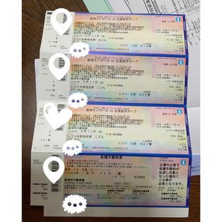 阪神タイガースvs広島東洋カープ 試合チケット(野球)