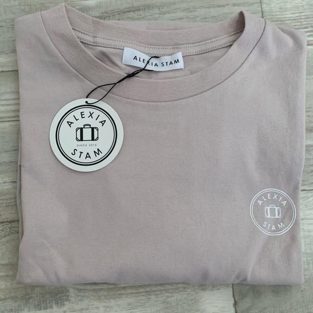 ALEXIA STAM(アリシアスタン)のアリシアスタン alexiastam Tシャツ ピンク レディースのトップス(Tシャツ(半袖/袖なし))の商品写真