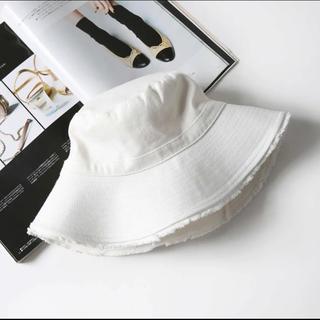 即日発送可 韓国ファッション帽子 バケットハットホワイト レディース 春