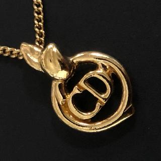 クリスチャンディオール(Christian Dior)のクリスチャンディオール ヴィンテージ   ネックレス ロゴ 囲み (ネックレス)