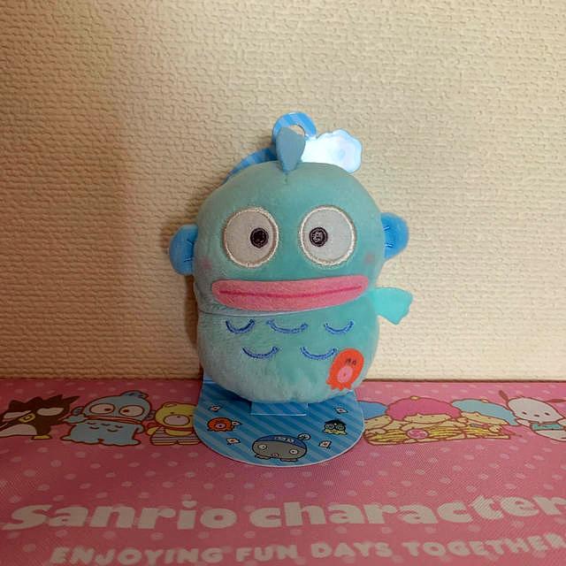 サンリオ(サンリオ)のサンリオ指人形マスコット ハンギョドン エンタメ/ホビーのおもちゃ/ぬいぐるみ(キャラクターグッズ)の商品写真