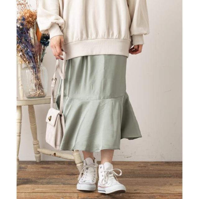 NICE CLAUP(ナイスクラップ)のサテンマーメイドスカート❤︎ レディースのスカート(ロングスカート)の商品写真