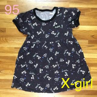 エックスガール(X-girl)のX-girl Tシャツ ワンピ ワンピース 3T 95 ミッキー(Tシャツ/カットソー)