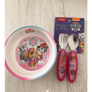 ディズニー(Disney)のパウパトロール スカイ エベレスト お皿 スプーン フォーク 食器(プレート/茶碗)