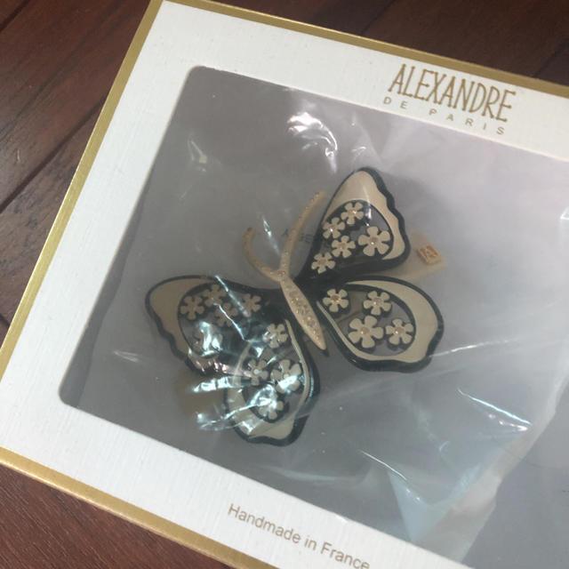 Alexandre de Paris(アレクサンドルドゥパリ)の新品未使用 アレクサンドルドゥパリ バレッタ  パピヨン バタフライ スワロ レディースのヘアアクセサリー(バレッタ/ヘアクリップ)の商品写真