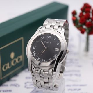 グッチ(Gucci)の正規品【新品電池】GUCCI 5500M/人気モデル 動作品 ブラック(腕時計(アナログ))
