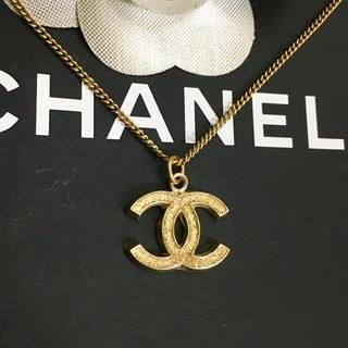 CHANEL - 正規品 シャネル ネックレス ゴールド ココマーク 金 ロゴ ラメ ペンダント2