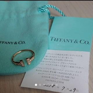 ティファニー(Tiffany & Co.)の美品☆Tiffany Tリング ローズゴールド10号(リング(指輪))