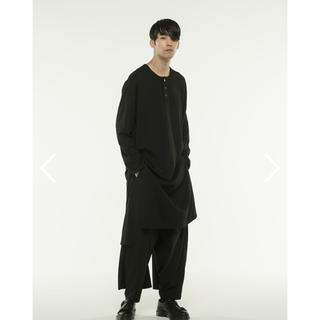 Yohji Yamamoto - Jersey Henry Neck Slit Dress T-Shirt