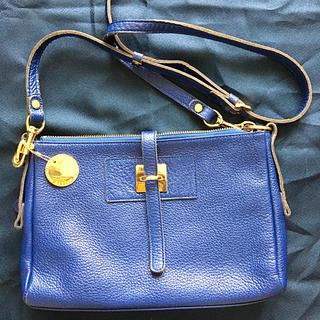 BARDOT ROSE 青色革製ショルダーバッグ(ショルダーバッグ)