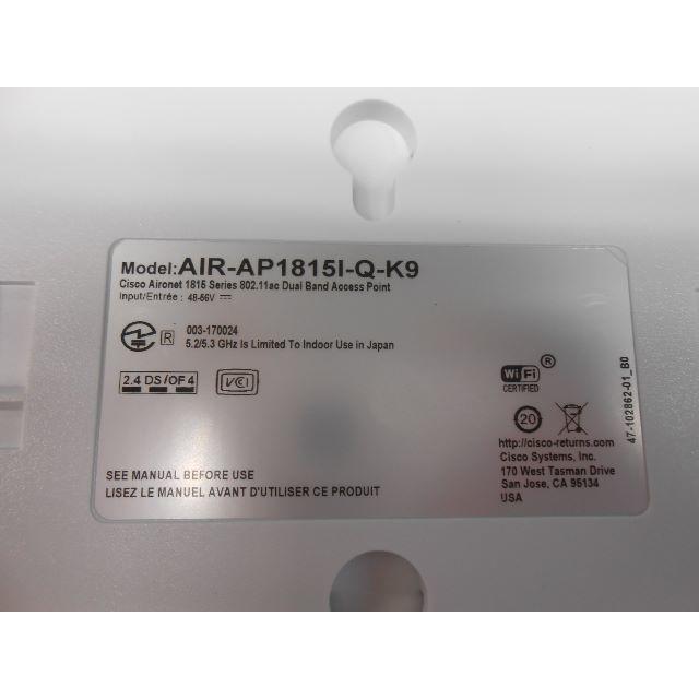 CISCO Wi-Fi 無線LAN AIRONET1815I-Q-K9 未使用品 スマホ/家電/カメラのPC/タブレット(PC周辺機器)の商品写真