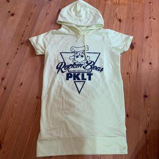 ピンクラテ(PINK-latte)のpinklatteフード付き半袖S/160(Tシャツ/カットソー)
