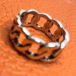 チェーン シルバー925リング  鎖 和 輪 ユニセックス シンプル 銀 指輪(リング(指輪))