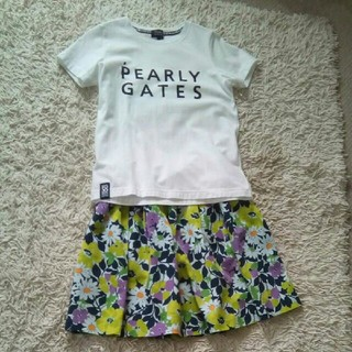 PEARLY GATES - パーリーゲイツ Tシャツ 花柄スカート