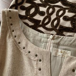 グレースコンチネンタル(GRACE CONTINENTAL)のgrace class 刺繍ワンピ(ミニワンピース)