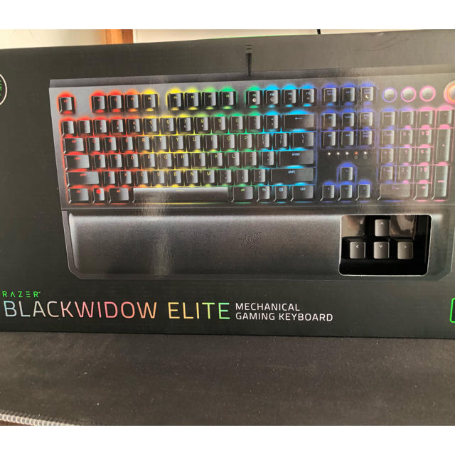Razer BLACKWIDOW ELITE GREEN JP スマホ/家電/カメラのPC/タブレット(PC周辺機器)の商品写真
