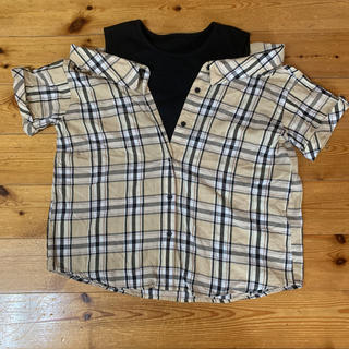 バーバリーチェック風シャツ Mサイズ(カットソー(半袖/袖なし))