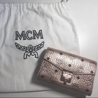 MCM - MCM ショルダーバッグ ピンクゴールド