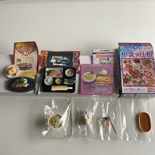 リーメント 和食日和 鯛茶漬け/和食三昧 焼鮭定食/ファミレス ステーキ(ミニチュア)