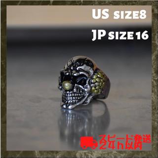 【ジョーカーリング】ピエロ スカル 指輪 US8号 日本16号(リング(指輪))