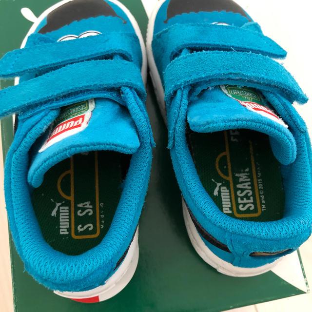 PUMA(プーマ)のpuma セサミストリート クッキーモンスター スニーカー  14㎝ 箱なし キッズ/ベビー/マタニティのベビー靴/シューズ(~14cm)(スニーカー)の商品写真