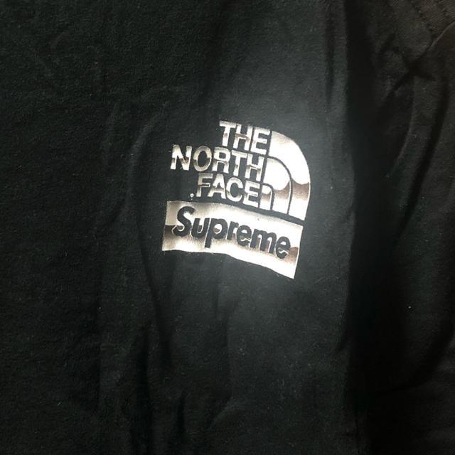 Supreme(シュプリーム)のSupreme the north face メタリックロゴ 黒 Tシャツ M メンズのトップス(Tシャツ/カットソー(半袖/袖なし))の商品写真