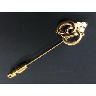 クリスチャンディオール(Christian Dior)のクリスチャンディオール ヴィンテージ   ロゴ ピンブローチ(ブローチ/コサージュ)
