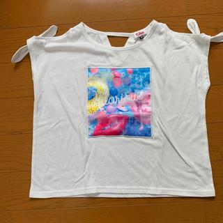 ピンクラテ(PINK-latte)のkids tシャツ XSサイズ 女の子(Tシャツ/カットソー)
